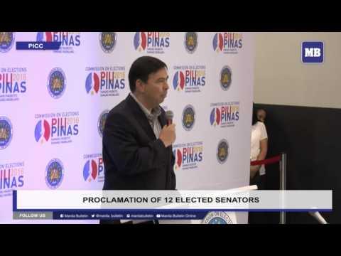 LIVE: Proclamation of 12 elected senators