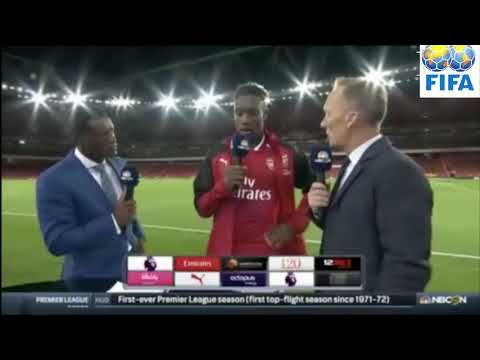 Danny Welbeck -- Post Match Interview  -- Arsenal (4 - 3) Leicester , 12/08/2017