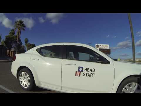 Head Start Vehicle at Ajo High School, Well Rd, Ajo, AZ, 27 November 2016 GOPR2319