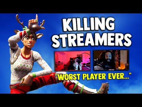 Killing Twitch Streamers #8 - Fortnite Battle Royale (FUNNY REACTIONS)