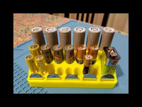 Holder for battery