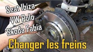 Comment changer les freins, disques et plaquettes, sur Seat ibiza 3, VW Polo 4, Skoda Fabia 1