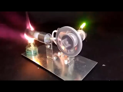 Mini Hot Air Stirling Engine Model Miniature Steam Gas Engine External-Combustion Engine Science toy
