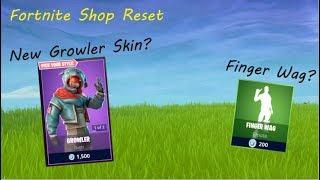 NEW GROWLER SKIN!?! | Item Shop Reset (Fortnite Battle Royale)