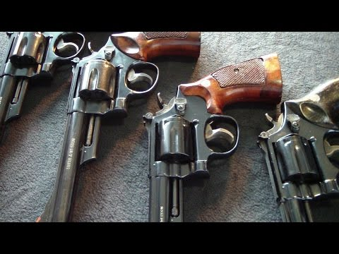 Smith & Wesson revolvers close up HD  BATJAC J.W