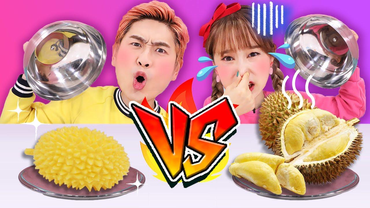 Download [捏捏樂和真實食物] 基尼和薑一隨機猜測真假食物大對決!