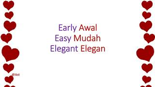 Learn English about 30 Adjectives/Kata Sifat #KATASIFAT #ADJECTIVE #BELAJARBAHASAINGGRIS #1