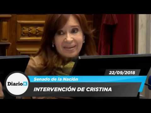 Intervención de Cristina en el Senado 22/05/2019