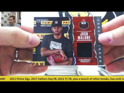 2017 Panini Father's Day FB 100 Pack Lot Random Team Group Break - Y.A. Tittle Helmet
