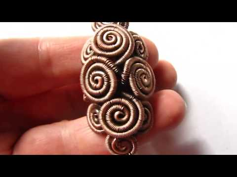 Copper Wire Wrapped Statement Ring by DeeArtist, 2018