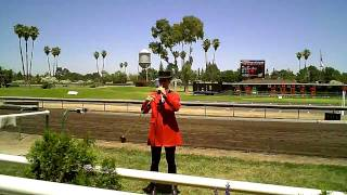 Bugle at the Alameda County Fair - Let the races begin!