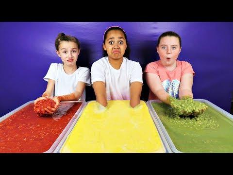 KIDS VS FOOD CHALLENGE!! Custard - Peas - Tomato