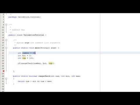 Java Validation: Range Check Tutorial