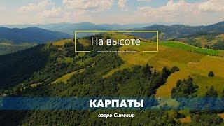 """Карпаты с высоты птичьего полета, озеро Синевир - """"На высоте"""". Carpathian Mountains aerial view"""
