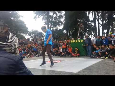 Power of youth Darjeeling organised by D.C B Crew Judge Showcase - Bboy Sampurna