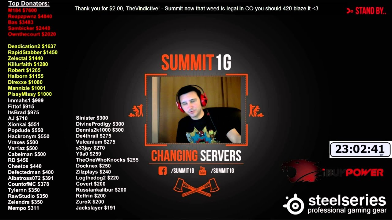 summit's big donation chain - youtube