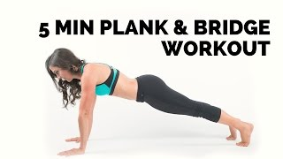 Plank and Bridge Workout for ABS.