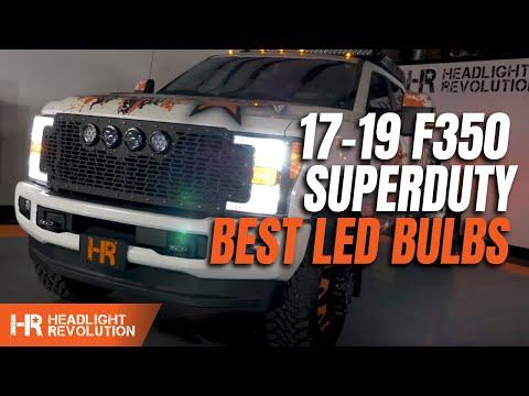 Hr Tested 353 Brighter Led Headlight Bulbs 17 19 Ford F350 Superduty Youtube