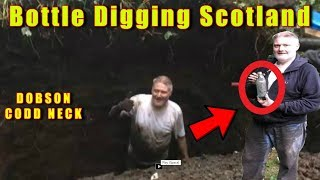 Bottle digging uk scotland unbelievable treasure finds a dobson codd out of a deep hole 2 codds