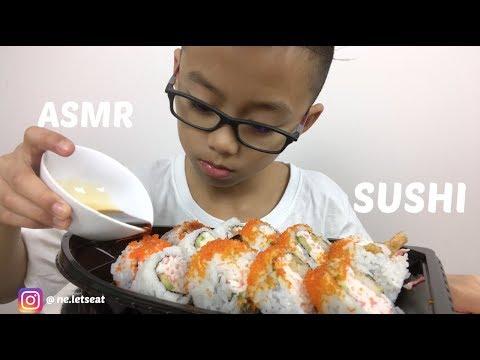 SUSHI *BIG BITE | ASMR Eating Sounds | N.E Lets Eats