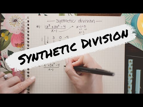 SYNTHETIC DIVISION » How To Divide Polynomials The Easy Way | Math Hacks