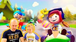 Машинки для детей КОРОЛЬ КАРТИНГОВ - Детская  игра в гонки KING of KARTS Children's Games