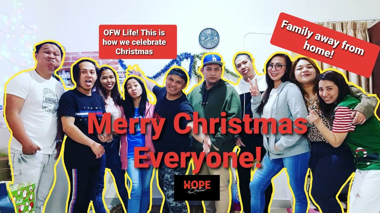 [VIDEO] - OFW LIFE - This is how we celebrate Christmas! Family away fromHome! | DoRo goes to Christmas party 1