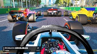 LAST TO ? CHALLENGE - Romain Grosjean F1 2018 Azerbaijan GP Challenge