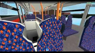 Roblox London Hackney & Limehouse bus simulator Wright Gemini 2 Hybrid Stagecoach London Route 8