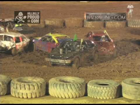 Kings of Karnage Demo Derby Compact Cars Heat #1 Tyler County Speedway July 2, 2016