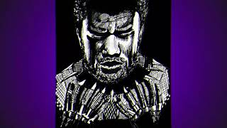 Speed Drawing Chadwick Boseman as Black Panther