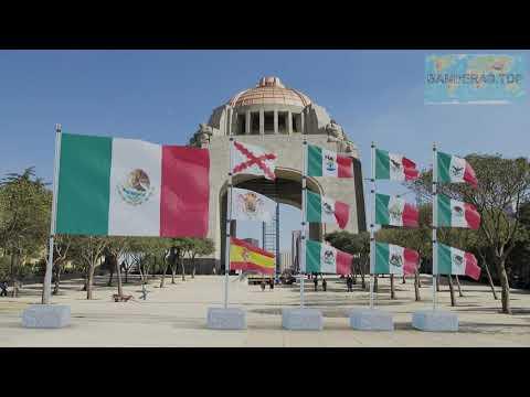 Himno y banderas de México | Mexico flags and anthem