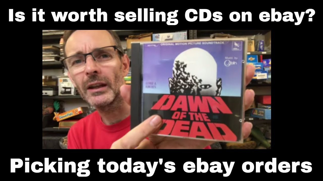 Do CDs sell on ebay? Picking today's CD and other media orders...