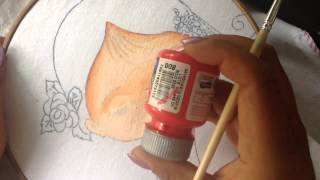 Pintura em tecido – Menina Rosa – com Cony Rico – Parte 1