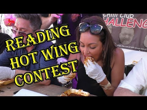 Extreme Hot Wing Eating Contest | Reading Chilli Festival | June 2017