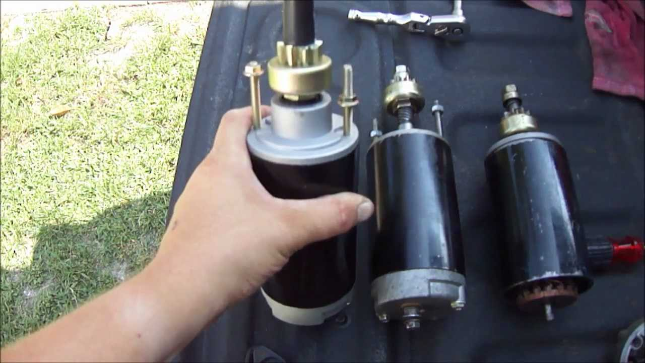 hight resolution of starter comparison and replacement