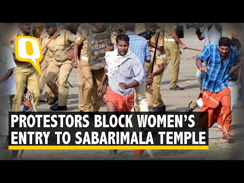 Protesters at Sabarimala Block Women's Entry Into Temple
