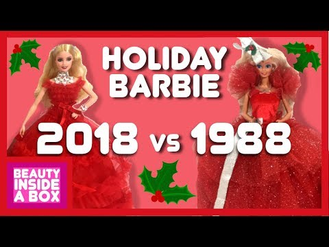 Holiday Barbie 2018 vs 1988 (Doll Review & Comparison)