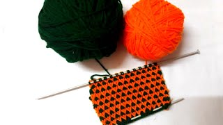 Two colour bright knitting pattern #28