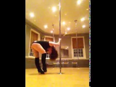 """Skin"" by Rihanna beginner pole dance routine"