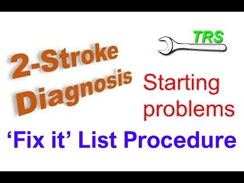 Two Stroke Cycle Engine won't Start/Diagnostic procedure/Service/Chainsaw/Hedge trimmer/Weed Eater