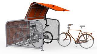 FalcoPod fietskluis animatie 3D