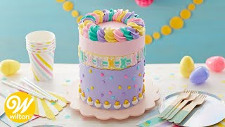 How to Make an Easter Fault Line Cake | Wilton