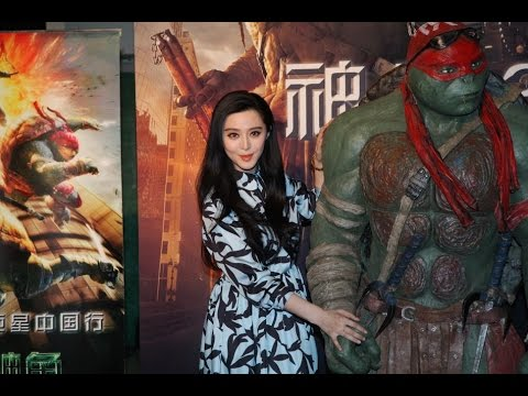 Ninja Turtles come to beijing, Fan Bingbing attends premiere