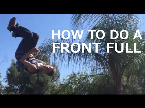 How to do a Front Flip 360 (On a Trampoline)