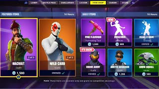 VIVACIOUS | ROGUE AGENT | HACIVAT| WILD CARD; Item Shop Update in FORTNITE #15/09/18