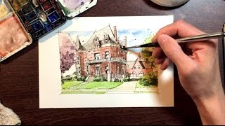 """Sketching a Victorian Home """"Voigt House"""""""