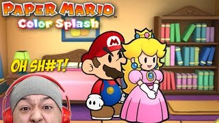 OH SH#T!! PEACH FRIEND-ZONEDED MARIO!! [PAPER MARIO: COLOR SPLASH]