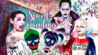 [speed painting] Joker & Harley Quinn | suicide squad