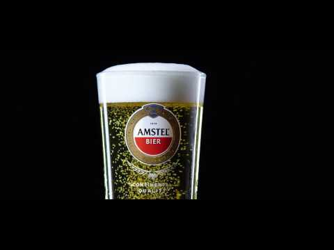How to pour the perfect pint of Amstel.